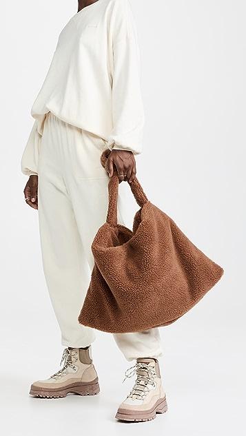 KASSL Bag Square Small Faux Sheepskin Bag