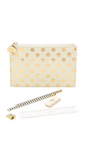 low cost 2247e 2ff58 Gold Dots Pencil Pouch