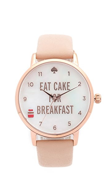 Kate Spade New York Metro Eat Cake for Breakfest Watch
