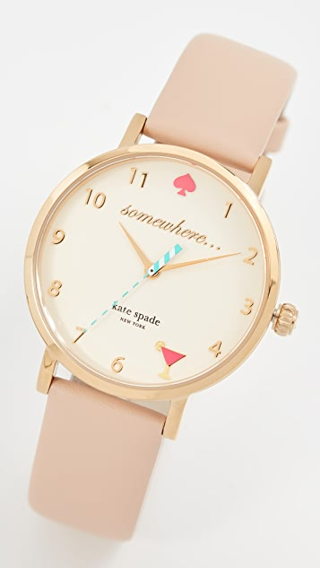 Kate Spade New York 5 O'Clock Metro Leather Watch