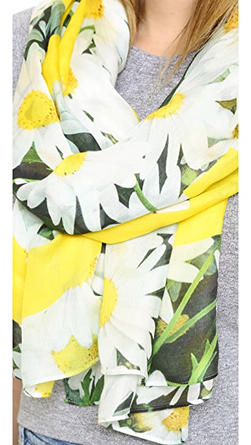 Kate Spade New York Oops A Daisy Oblong Scarf