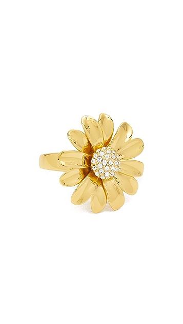 Kate Spade New York Эффектное кольцо в виде маргаритки с блестящими кристаллами