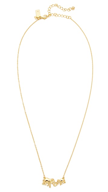Kate Spade New York Mom Knows Best Elephant Necklace
