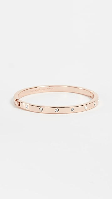 tone kors hard logo new ladies arrivals hinged gold bangle shop bracelet cz michael