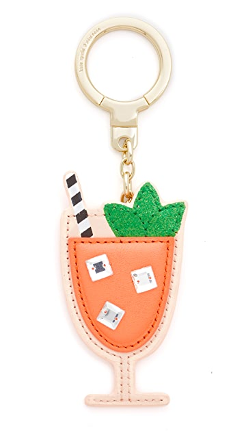Kate Spade New York Leather Passion Fruit Drink Key Chain