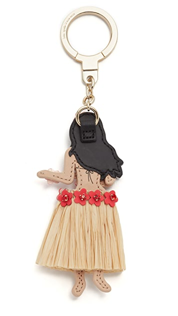 Kate Spade New York Leather Hula Girl Key Chain
