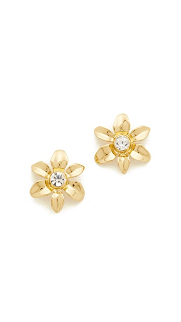 Kate Spade New York Lovely Lillies Mini Flower Studs