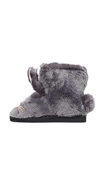 Kate Spade New York Bethie Faux Fur Bunny Booties