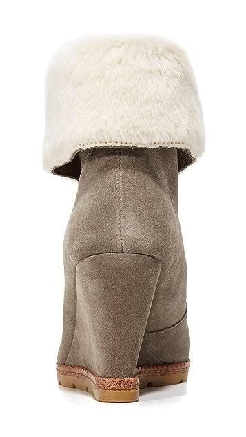 Kate Spade New York Stasia Faux Fur Zip Booties
