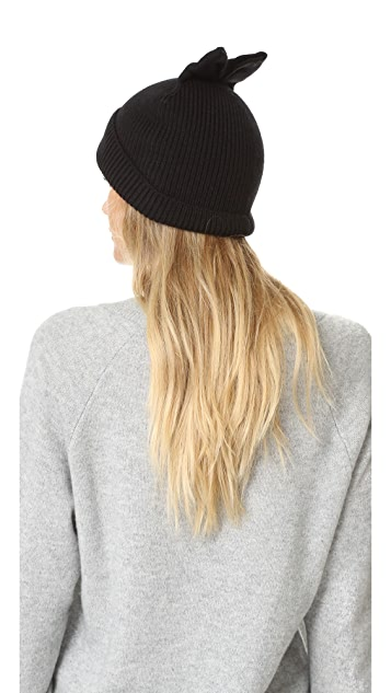 9e046a12ce8 ... Kate Spade New York Solid Bow Knit Hat ...