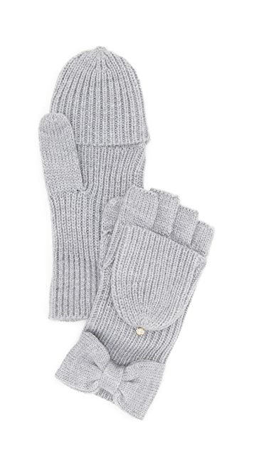Kate Spade New York Solid Bow Pop Top Gloves