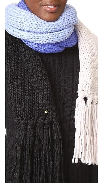 Kate Spade New York Chunky Knit Colorblock Muffler