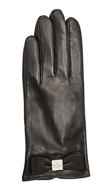 Kate Spade New York Hardware Bow Texting Gloves