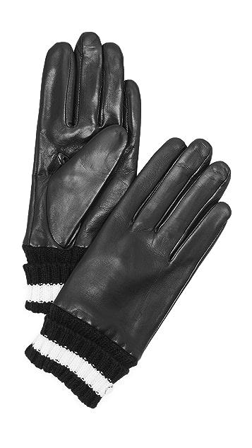 Kate Spade New York Short Knit Cuff Gloves