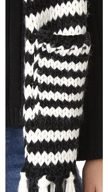 Kate Spade New York Chunky Stripe Muffler