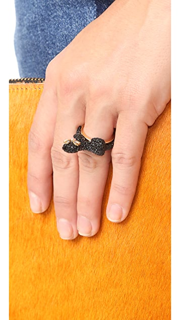 Kate Spade New York Jazz Things Up Pave Cat Ring