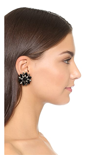 Kate Spade New York Trellis Blooms Giant Statement Stud Earrings