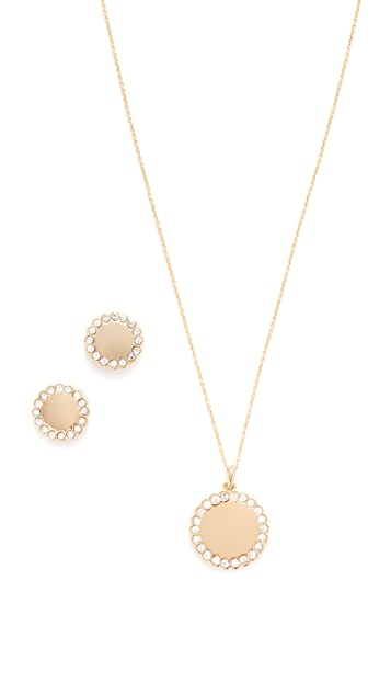 Kate Spade New York Steal The Spotlight Necklace and Earring Set