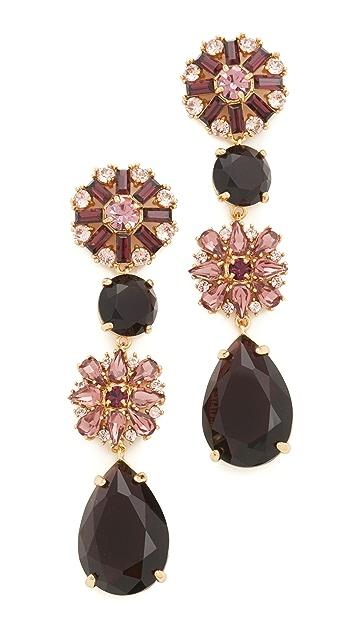 Kate Spade New York Trellis Blooms Statement Linear Earrings