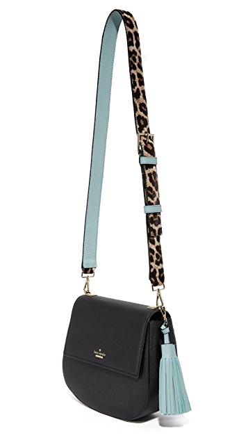 Kate Spade New York Leopard Tassel Guitar Strap