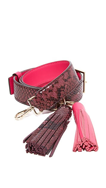 Kate Spade New York Snake Embossed Tassel Strap