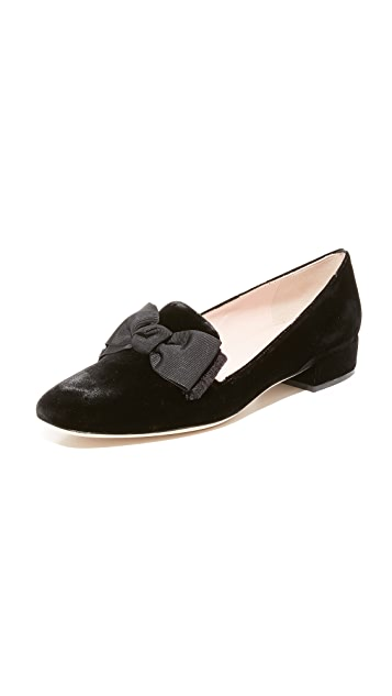 Kate Spade New York Gino Velvet Smoking Flats