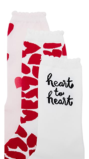 Kate Spade New York Heart to Heart Sock Set