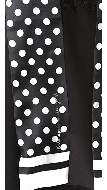 Kate Spade New York Polka Dot Long Skinny Scarf