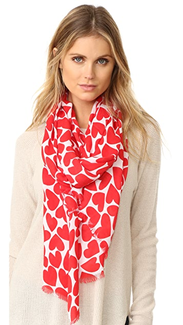 Kate Spade New York Heart to Heart Oblong Scarf