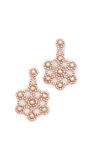 Kate Spade New York Crystal Lace Statement Earrings