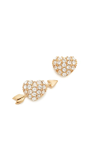 Kate Spade New York Be Mine Heart And Arrow Stud Earrings