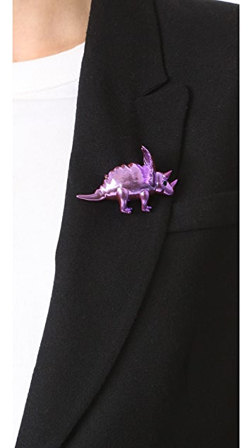 Kate Spade New York Whimsies Triceratops Brooch