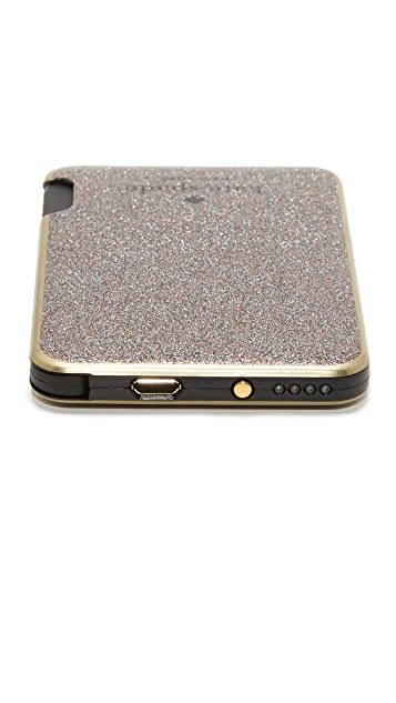 Kate Spade New York Glitter Slim Battery Bank
