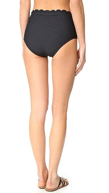 Kate Spade New York Marina Piccola High Waist Bikini Bottoms