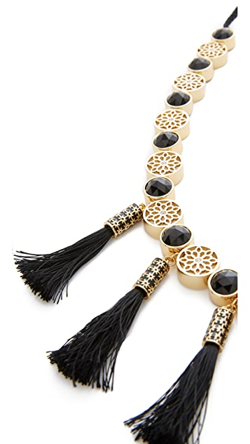 Kate Spade New York Moroccan Tile Tassel Statement Necklace
