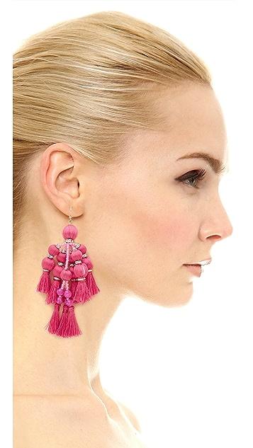 Kate Spade New York Pretty Poms Tassel Statement Earrings
