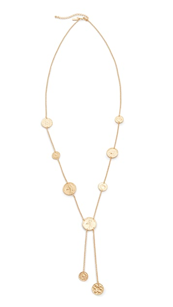Kate Spade New York Flip a Coin Lariat Necklace