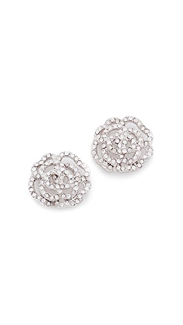 Kate Spade New York Crystal Rose Stud Earrings