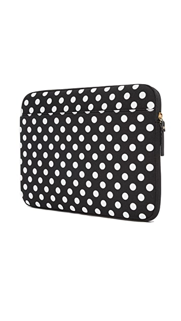 Kate Spade New York 13 Inch Neoprene Dot Sleeve