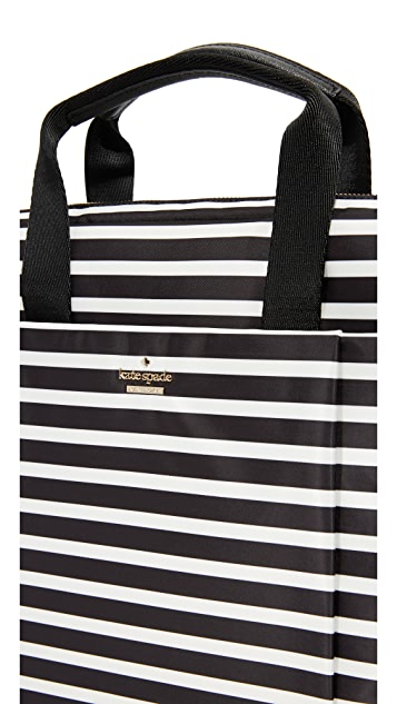 Kate Spade New York Stripe Nylon Laptop Bag