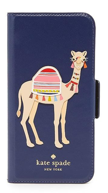 Kate Spade New York Camel Applique iPhone 7 Case