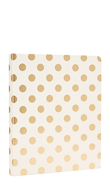 Kate Spade New York Gold Pavilion Spiral Notebook