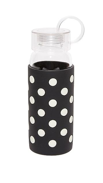 Kate Spade New York Le Pavilion Black Dot Water Bottle