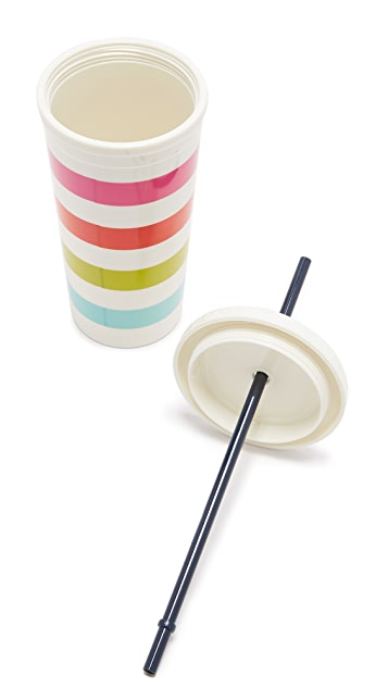 Kate Spade New York Candy Stripe Thermal Tumbler