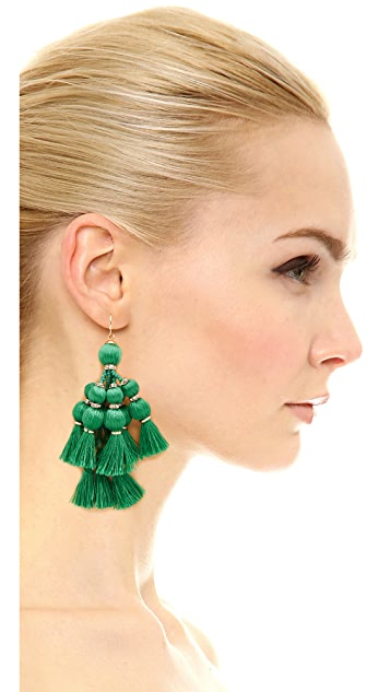 Kate Spade New York Pretty Poms Tassel Statement Earrings