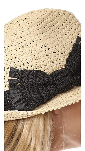 Kate Spade New York Crochet Crushable Fedora