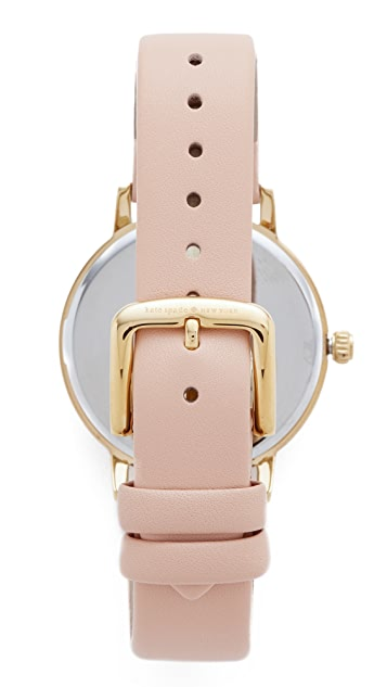 Kate Spade New York Metro Wine & Dine Leather Watch
