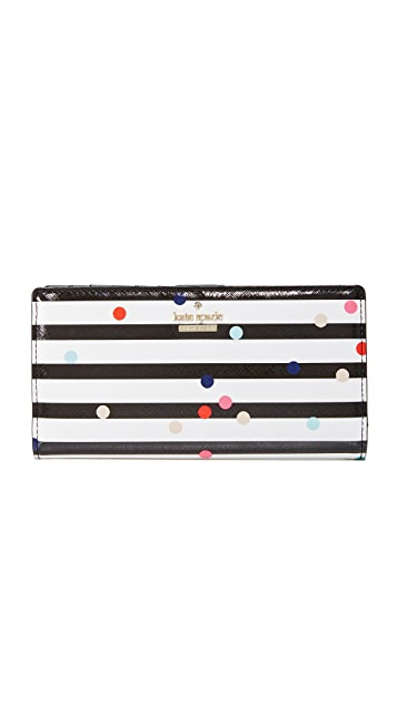Kate Spade New York Confetti Dot Stacy Continental Wallet