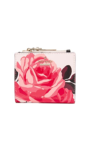 Kate Spade New York Roses Small Zip Wallet