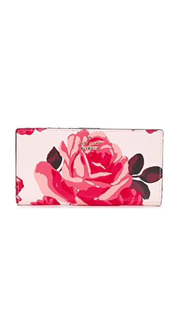 Kate Spade New York Roses Stacy Snap Wallet